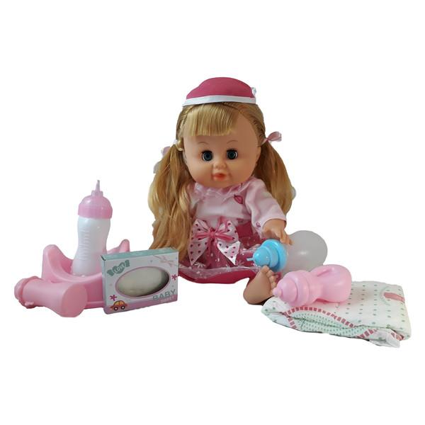 عروسک مدل نوزاد دختر کد 66003 ارتفاع 30 سانتی متر
