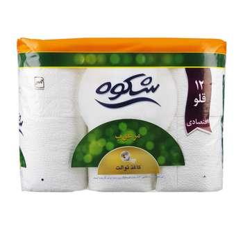 دستمال توالت شکوه مدل 1298  بسته 12 عددی