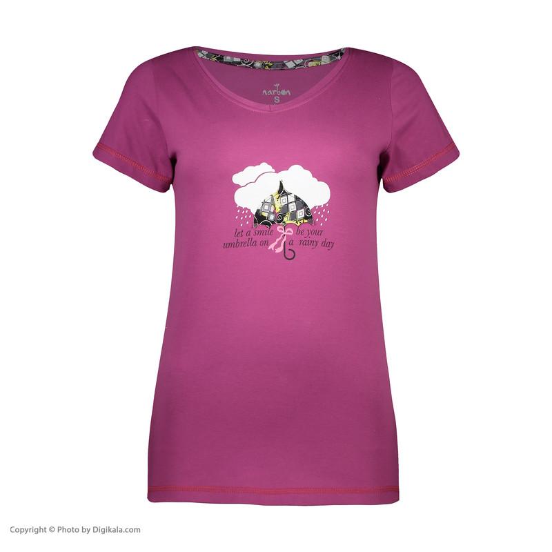 ست تی شرت و شلوارک راحتی زنانه ناربن مدل 1521197-71
