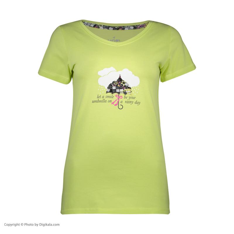 ست تی شرت و شلوارک راحتی زنانه ناربن مدل 1521197-40