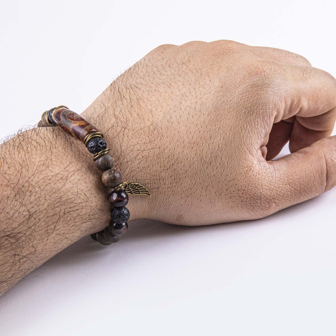 دستبند مردانه ریسه گالری مدل Ri3-T1004B