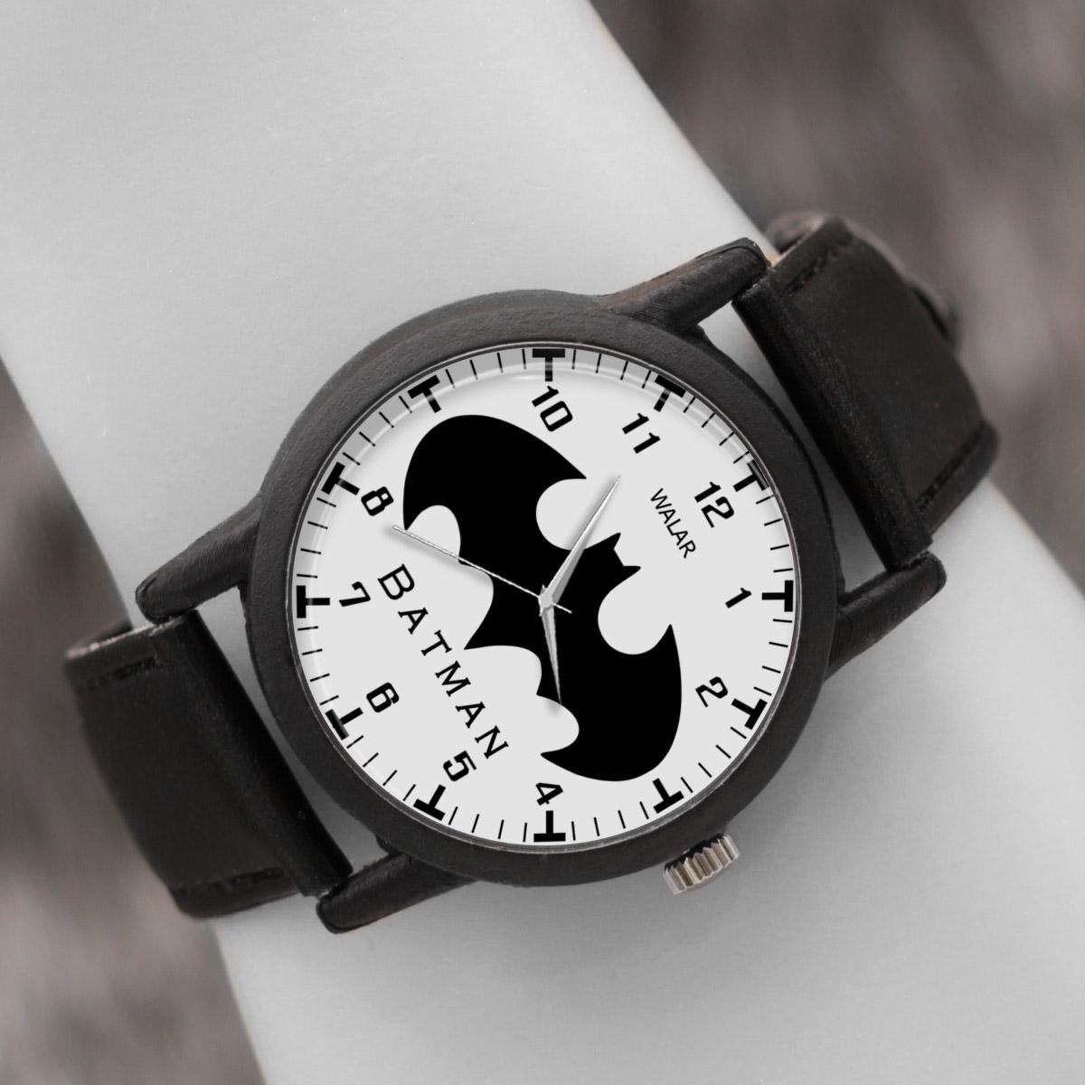 کد تخفیف                                      ساعت مچی عقربه ای والار طرح بتمن کد LF2306