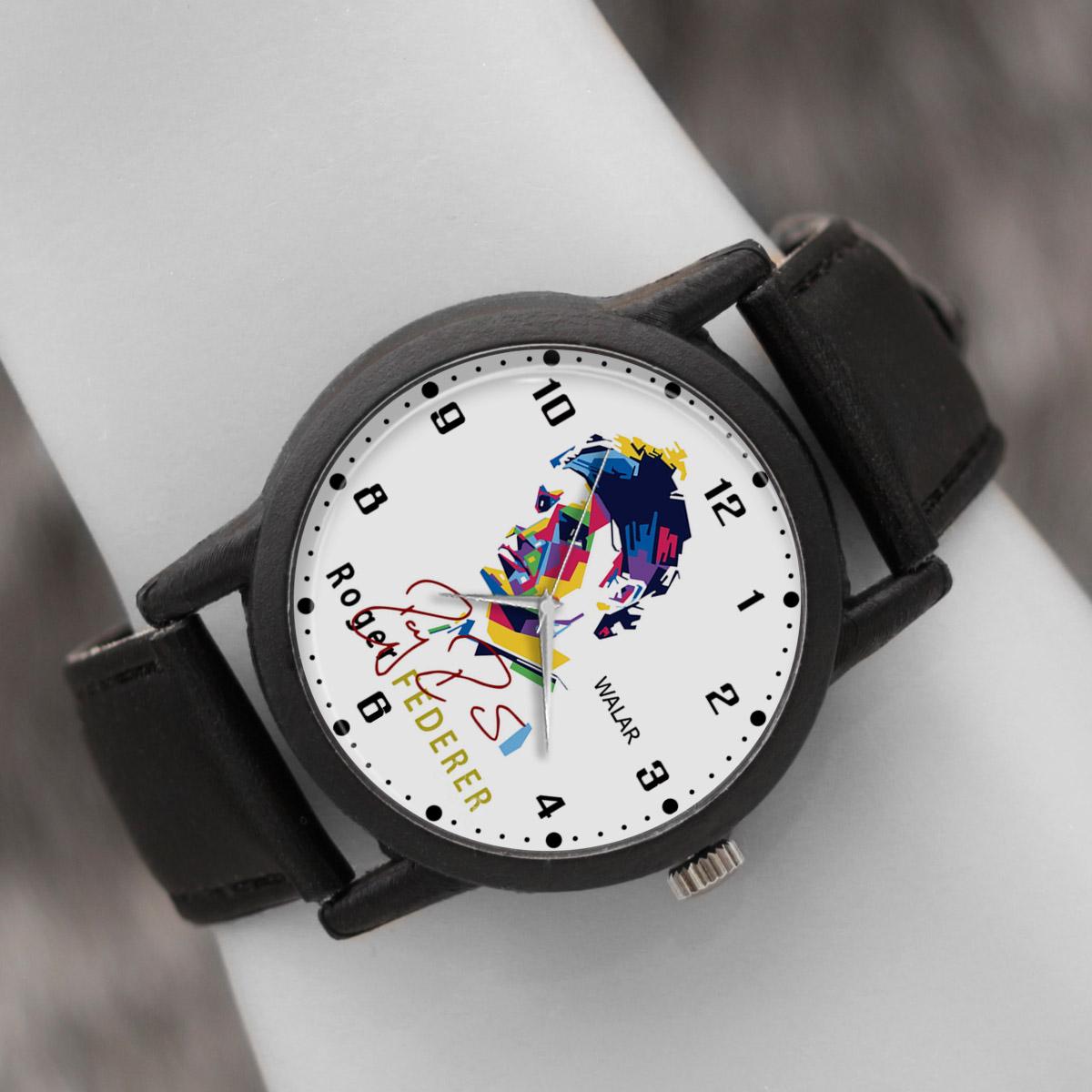 کد تخفیف                                      ساعت مچی عقربه ای والار طرح راجر فدرر کد LF2105