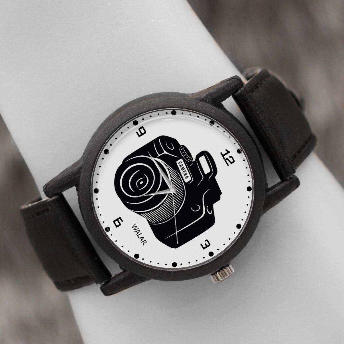 کد تخفیف                                      ساعت مچی عقربه ای والار طرح عکاسی کد LF2406