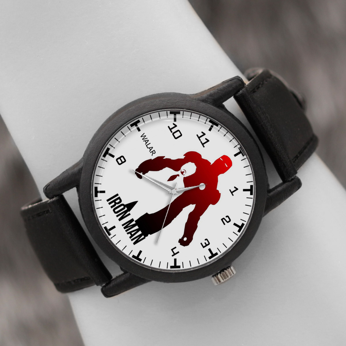کد تخفیف                                      ساعت مچی عقربه ای والار طرح آیرون من کد LF2315