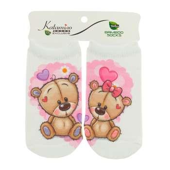 جوراب نوزاد کاتامینو طرح خرس کوچولوهای عاشق