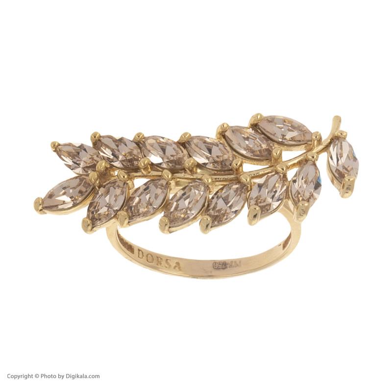 انگشتر طلا 18 عیار زنانه درسا مدل 2348-1