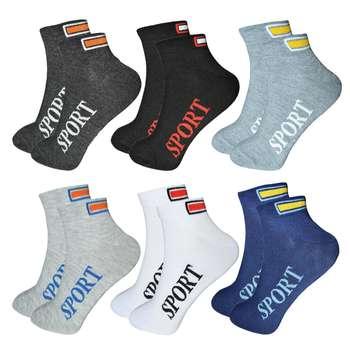 جوراب مردانه آکام طرح اسپورت کد 53 مجموعه 6 عددی