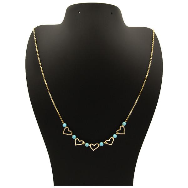 گردنبند طلا 18 عیار زنانه مانچو کد sfgs006