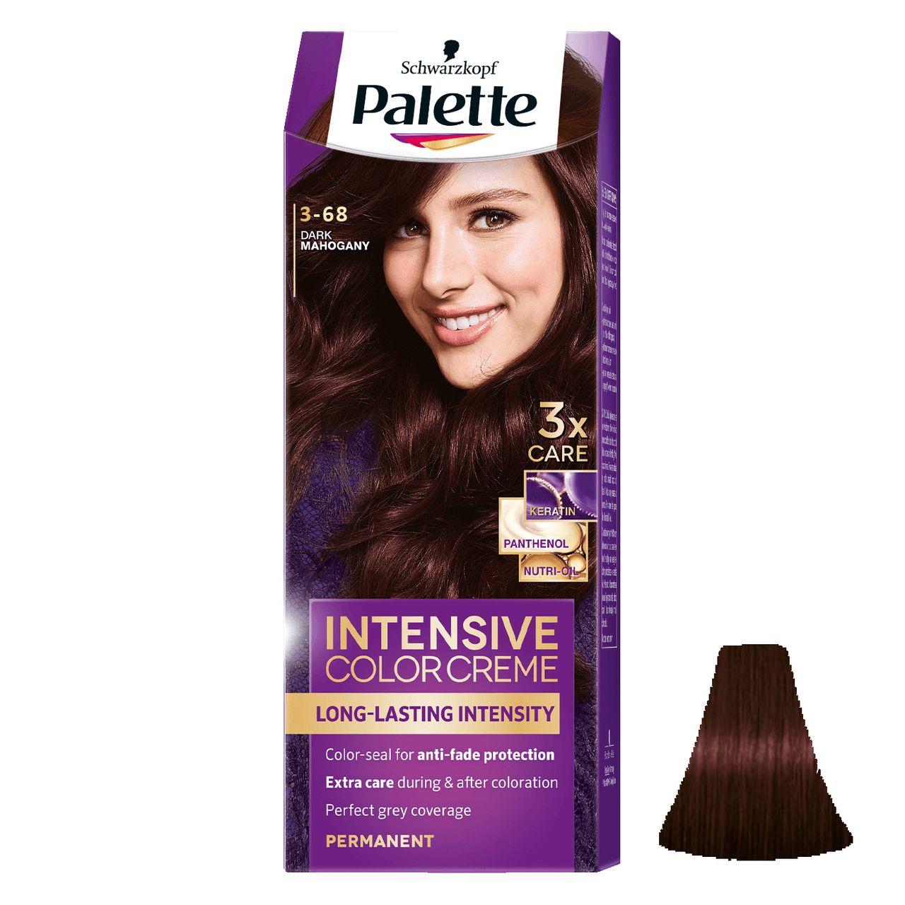 کیت رنگ مو پلت سری Intensive شماره 68-3 حجم 50 میلی لیتر رنگ ماهگونی تیره