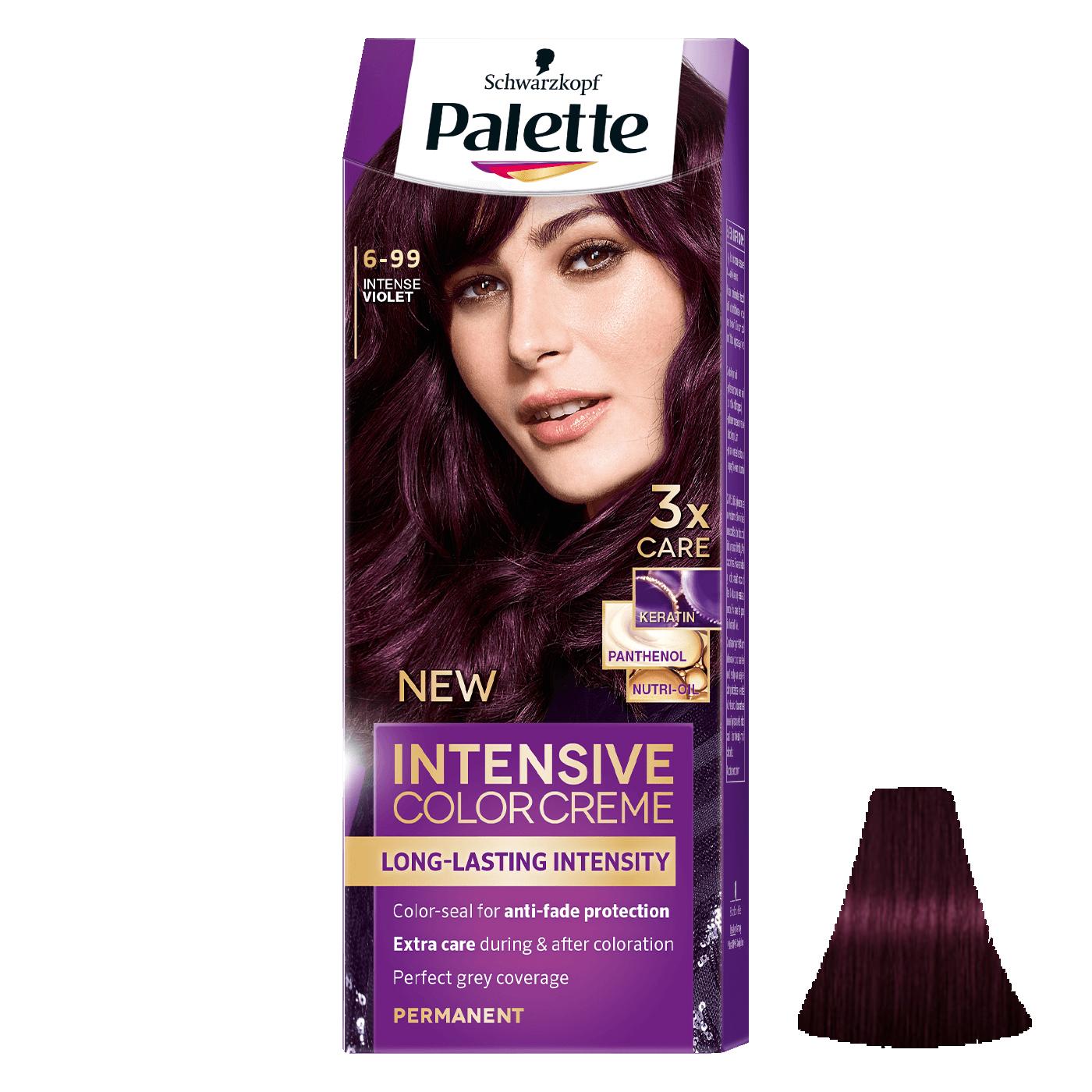 کیت رنگ مو پلت سری Intensive شماره 99-6 حجم 50 میلی لیتر رنگ بنفش تیره