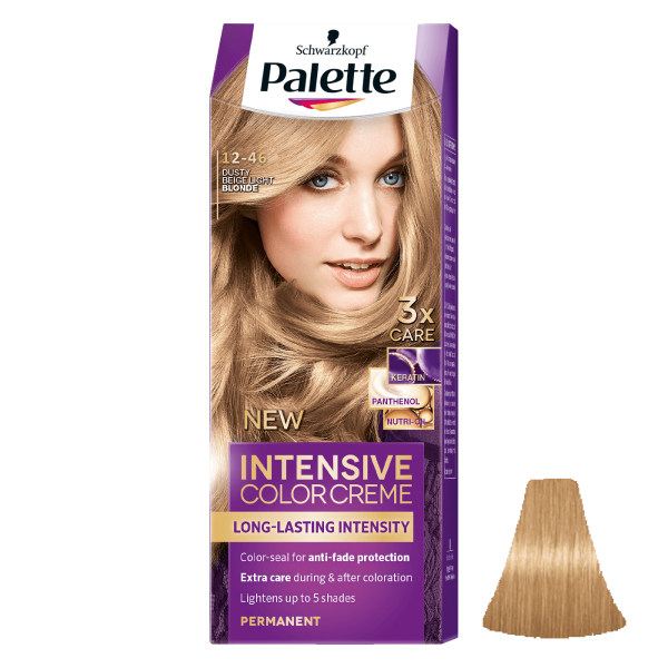 کیت رنگ مو پلت سری Intensive شماره 46-12 حجم 50 میلی لیتر رنگ بلوند بژ