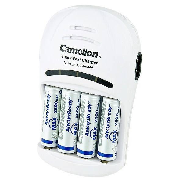 شارژر باتری کملیون مدل BC-1007 به همراه 4 عددی باتری قلمی