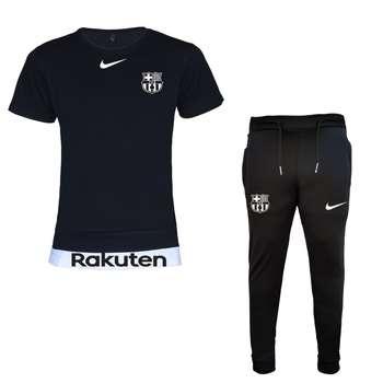 ست تیشرت و شلوار ورزشی مردانه طرح بارسلونا کد 7212