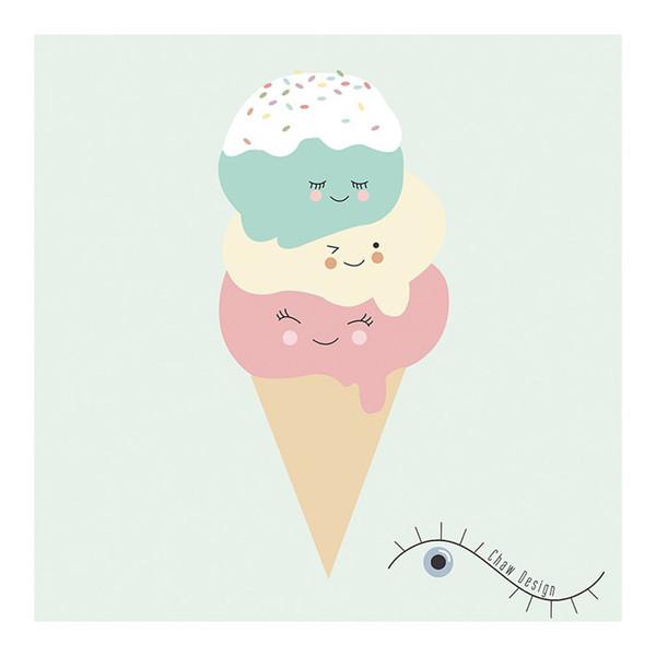 تابلو کودک طرح بستنی