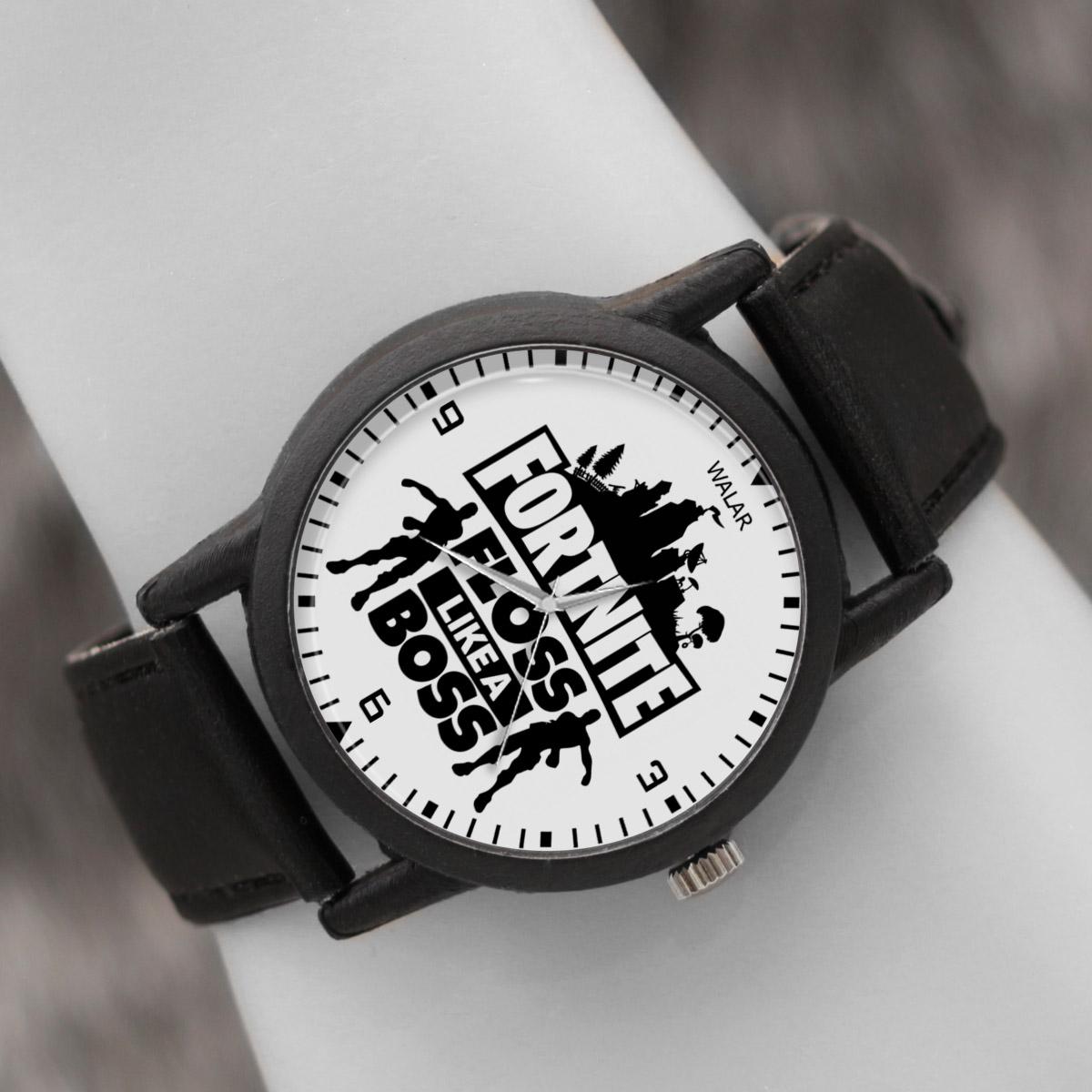 کد تخفیف                                      ساعت مچی عقربه ای والار طرح فورتنایت کد LF2043