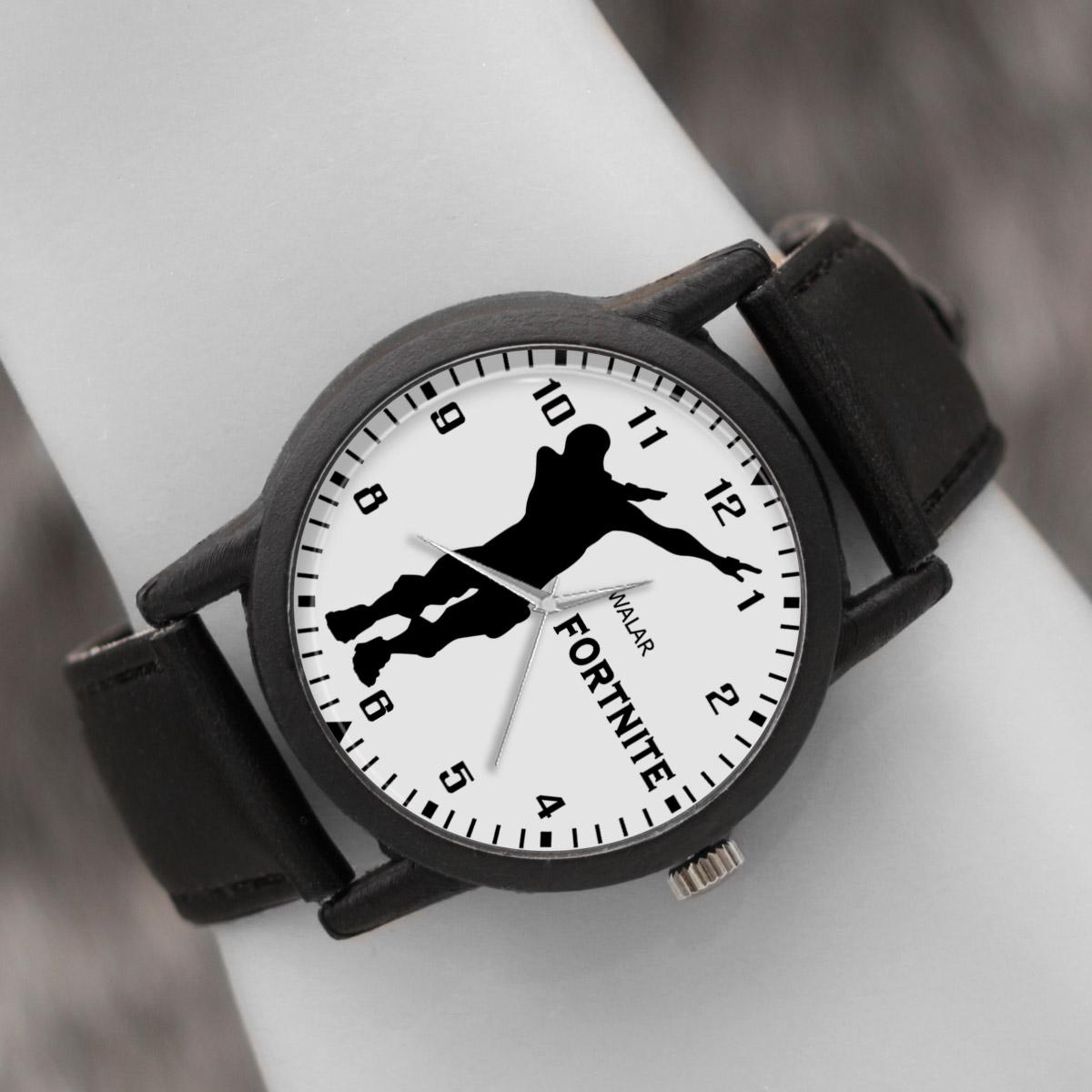 کد تخفیف                                      ساعت مچی عقربه ای والار طرح فورتنایت کد LF2046
