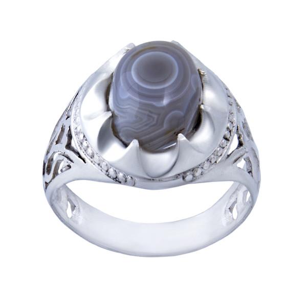 انگشتر نقره مردانه بازرگانی میلادی کد  AM_008