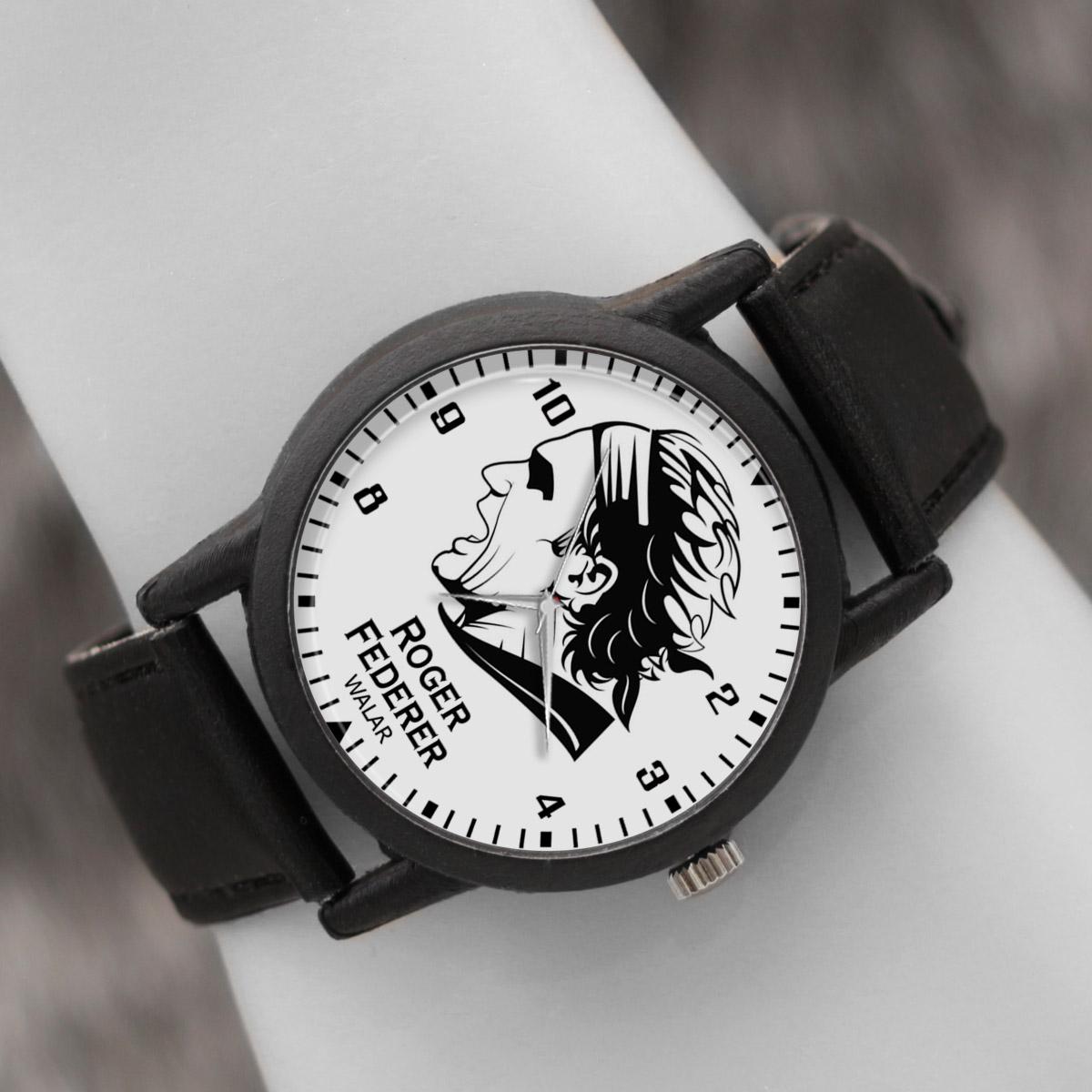 کد تخفیف                                      ساعت مچی عقربه ای والار طرح راجر فدرر کد LF2104