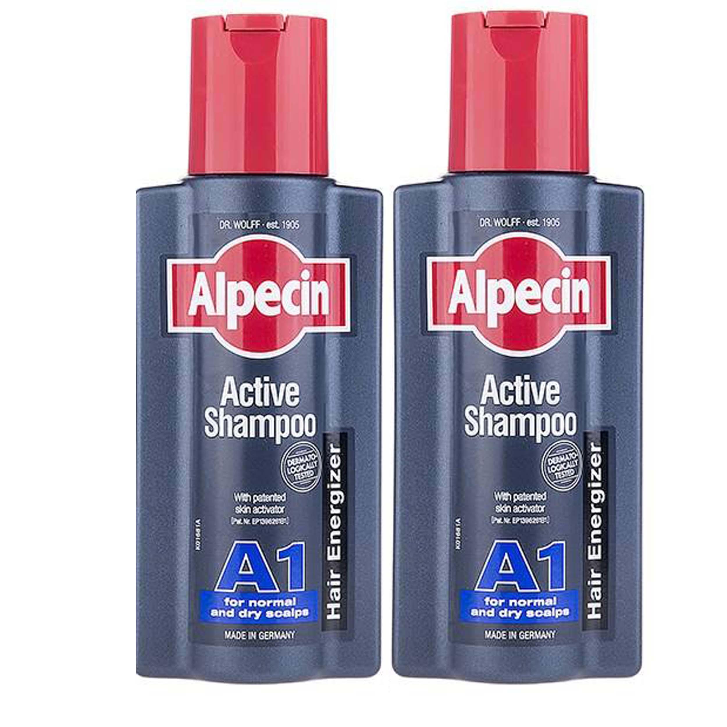 خرید                      شامپو مو آلپسین مدل A1 Active حجم 250 میلی لیتر بسته 2 عددی