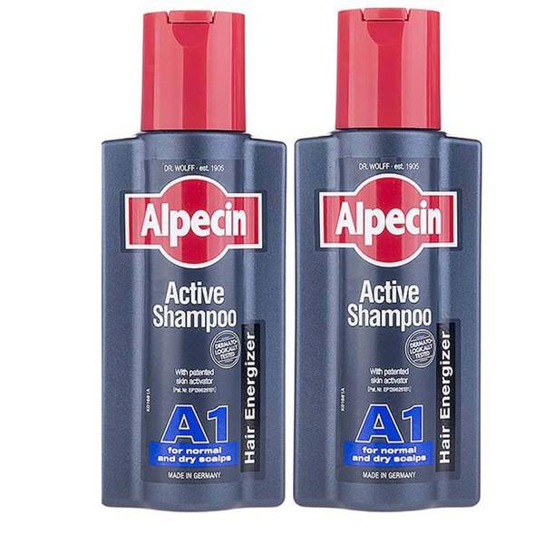 شامپو مو آلپسین مدل A1 Active حجم 250 میلی لیتر بسته 2 عددی
