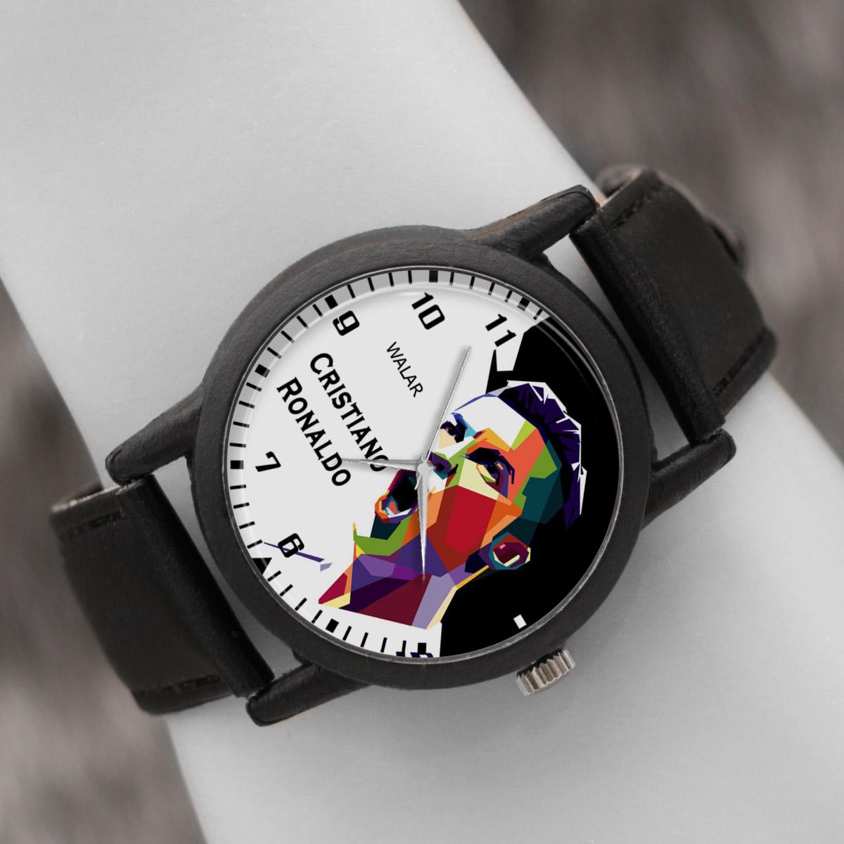 کد تخفیف                                      ساعت مچی عقربه ای والار طرح کریستیانو رونالدو کد LF2190