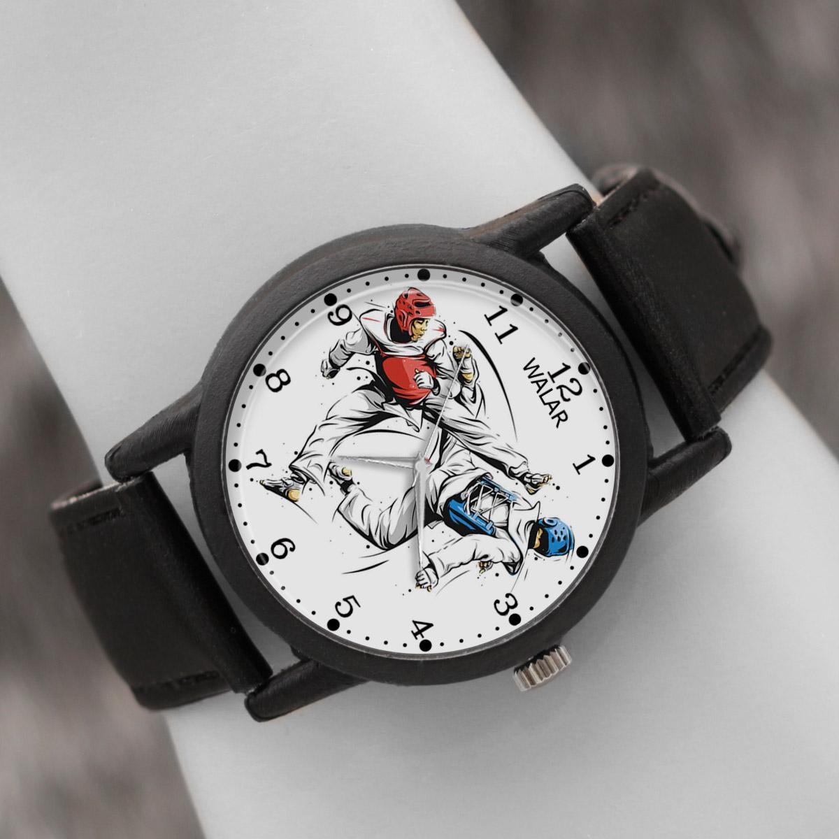 کد تخفیف                                      ساعت مچی عقربه ای والار طرح تکواندو کد LF2210