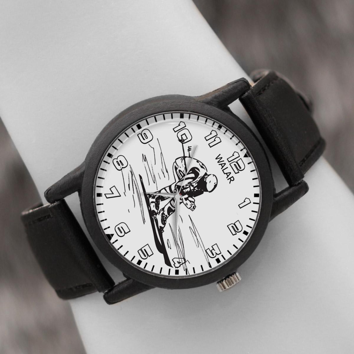 کد تخفیف                                      ساعت مچی عقربه ای والار طرح اسکی کد LF2218