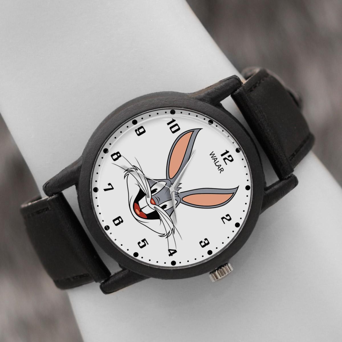 کد تخفیف                                      ساعت مچی عقربه ای والار طرح باگز بانی کد LF2241
