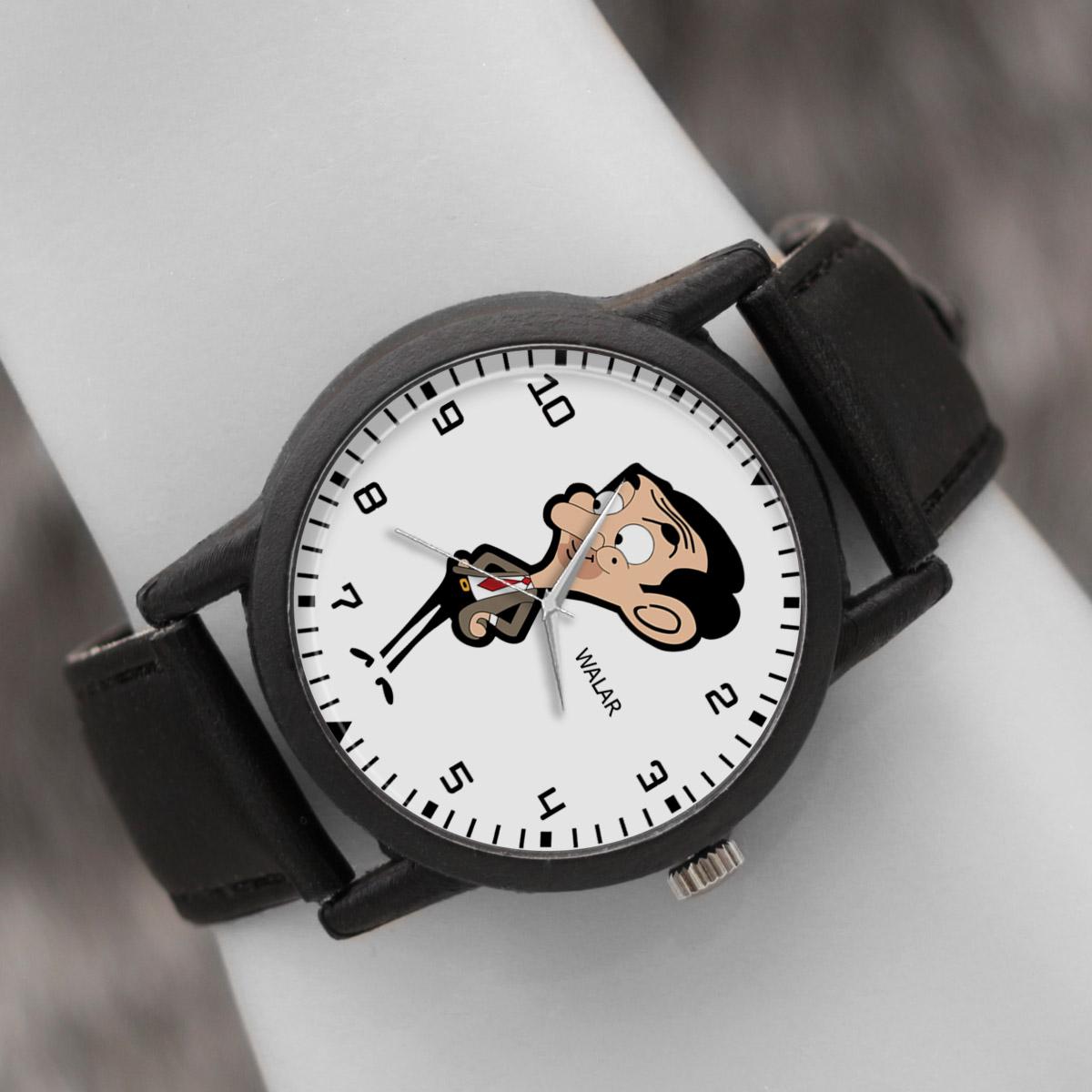 کد تخفیف                                      ساعت مچی عقربه ای والار طرح مستر بین کد LF2243