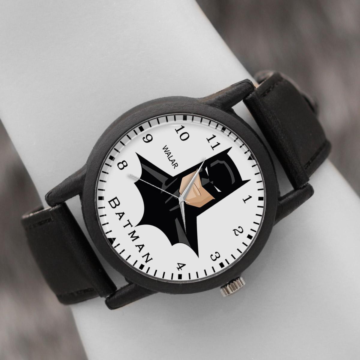 کد تخفیف                                      ساعت مچی عقربه ای والار طرح بتمن کد LF2304
