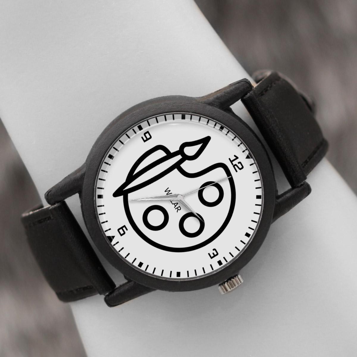 کد تخفیف                                      ساعت مچی عقربه ای والار طرح نقاش کد LF2349