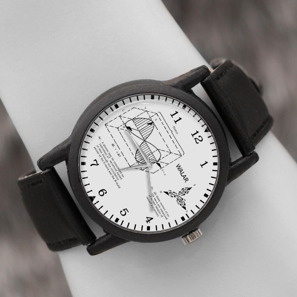 کد تخفیف                                      ساعت مچی عقربه ای والار طرح فیزیک کد LF2369