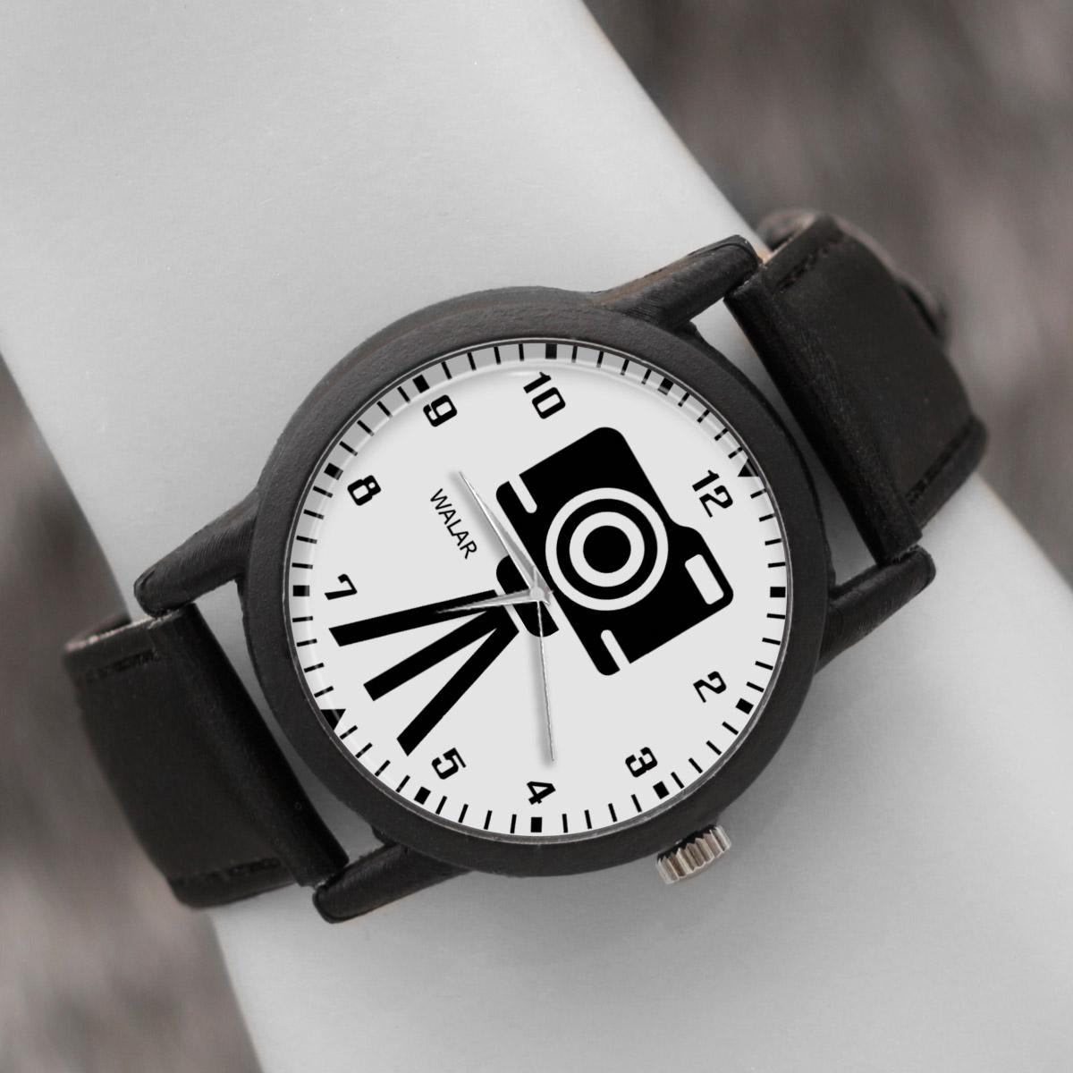 کد تخفیف                                      ساعت مچی عقربه ای والار طرح عکاسی کد LF2372