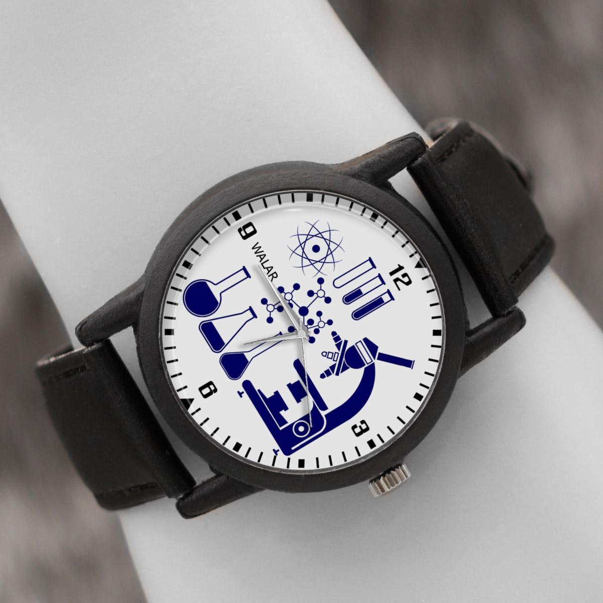 کد تخفیف                                      ساعت مچی عقربه ای والار طرح شیمی کد LF2389