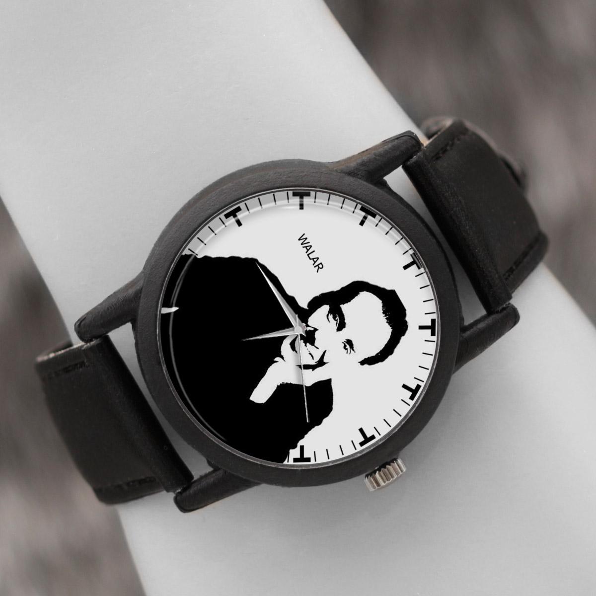 کد تخفیف                                      ساعت مچی عقربه ای والار طرح نیکولاس کیج کد LF2413