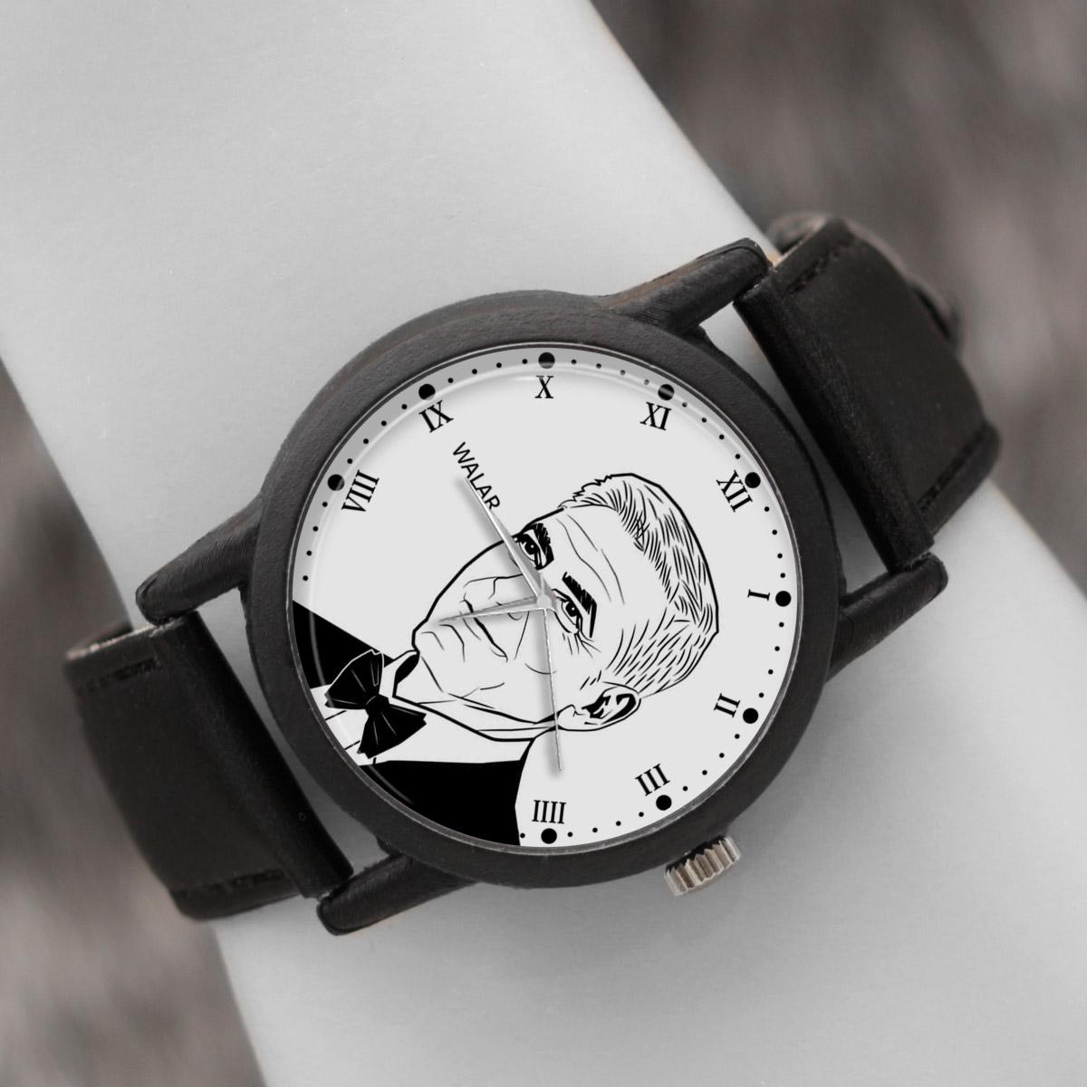 کد تخفیف                                      ساعت مچی عقربه ای والار طرح جورج کلونی کد LF2416