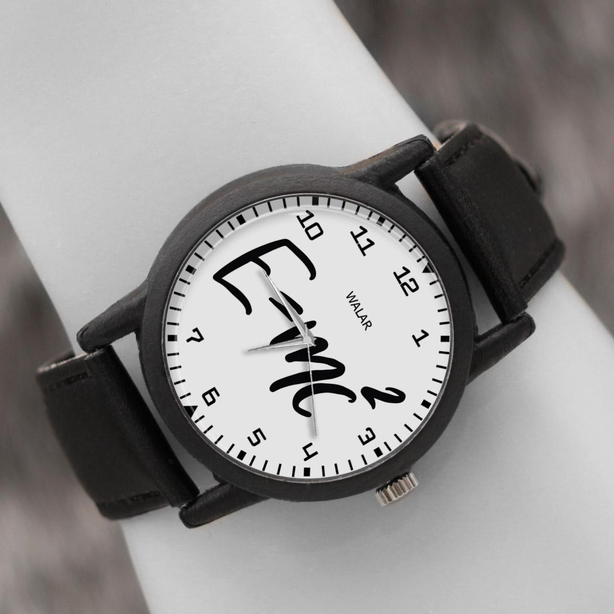 کد تخفیف                                      ساعت مچی عقربه ای والار طرح انیشتین کد LF2437