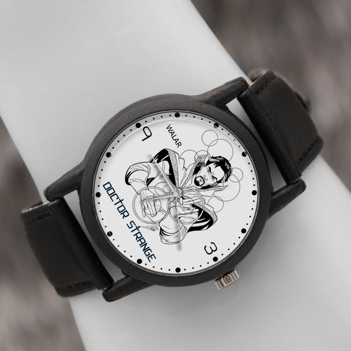 کد تخفیف                                      ساعت مچی عقربه ای والار طرح دکتر استرنج کد LF2461