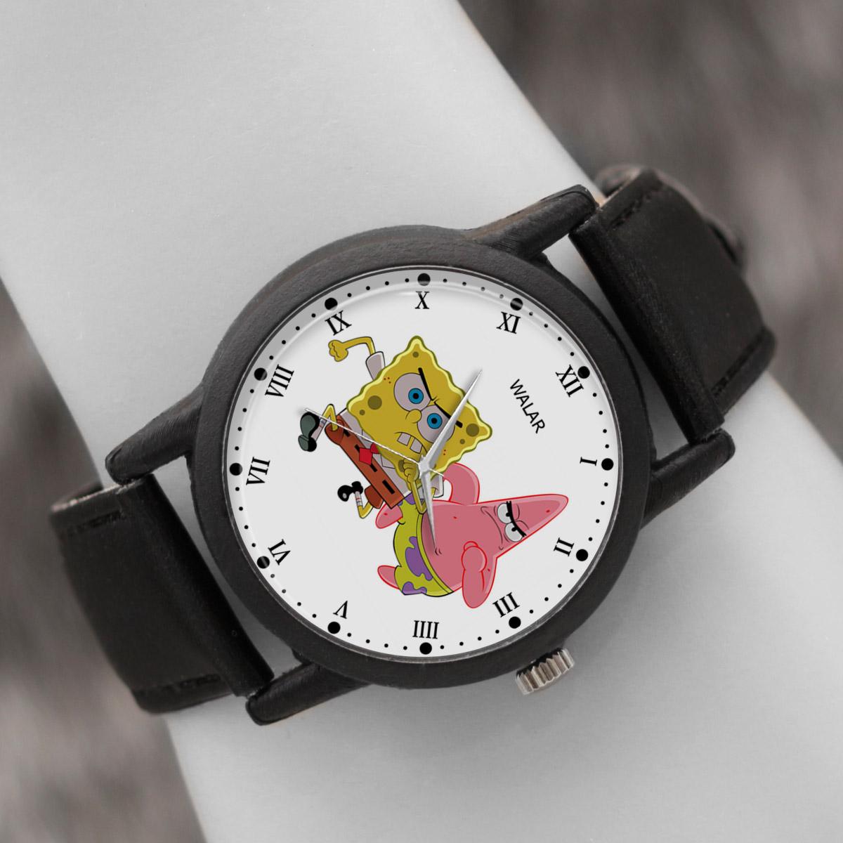 کد تخفیف                                      ساعت مچی عقربه ای والار طرح باب اسفنجی کد LF2493