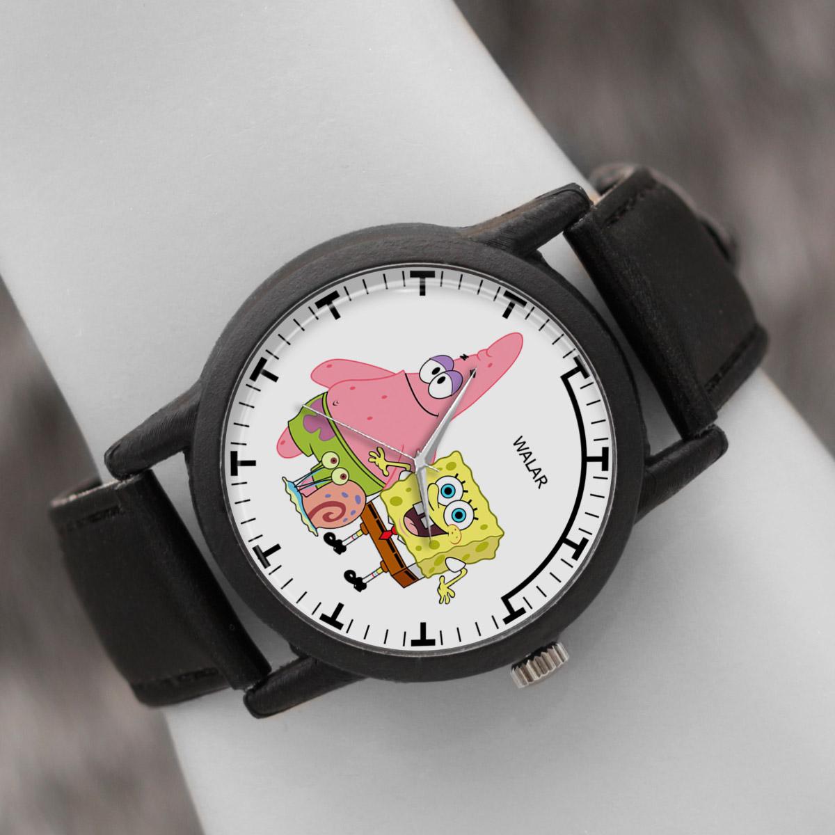 کد تخفیف                                      ساعت مچی عقربه ای والار طرح باب اسفنجی کد LF2494