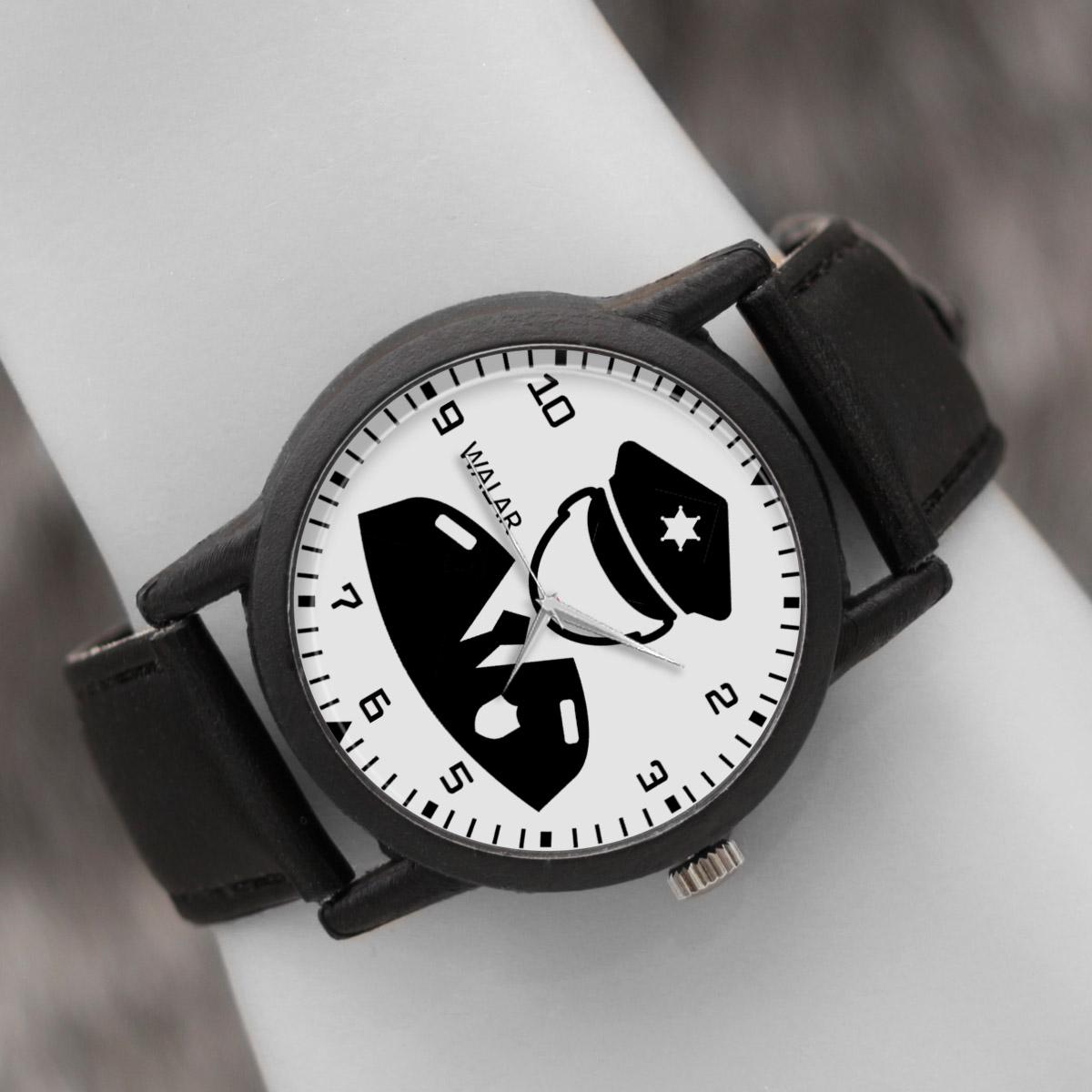 کد تخفیف                                      ساعت مچی عقربه ای والار طرح پلیس کد LF2504