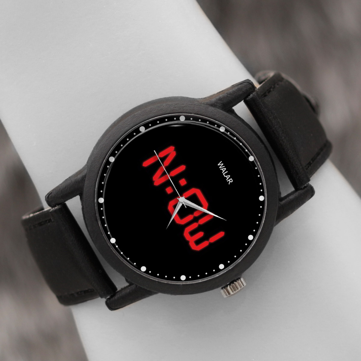 کد تخفیف                                      ساعت مچی عقربه ای والار طرح NOW کد LF2540