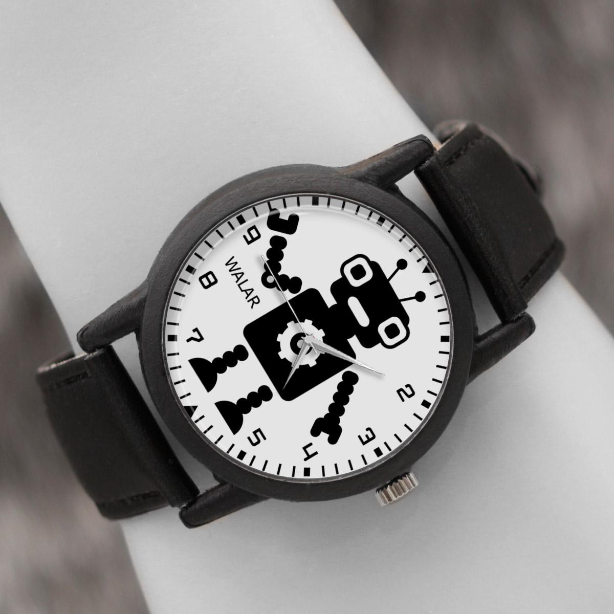 کد تخفیف                                      ساعت مچی عقربه ای والار طرح رباتیک کد LF2563