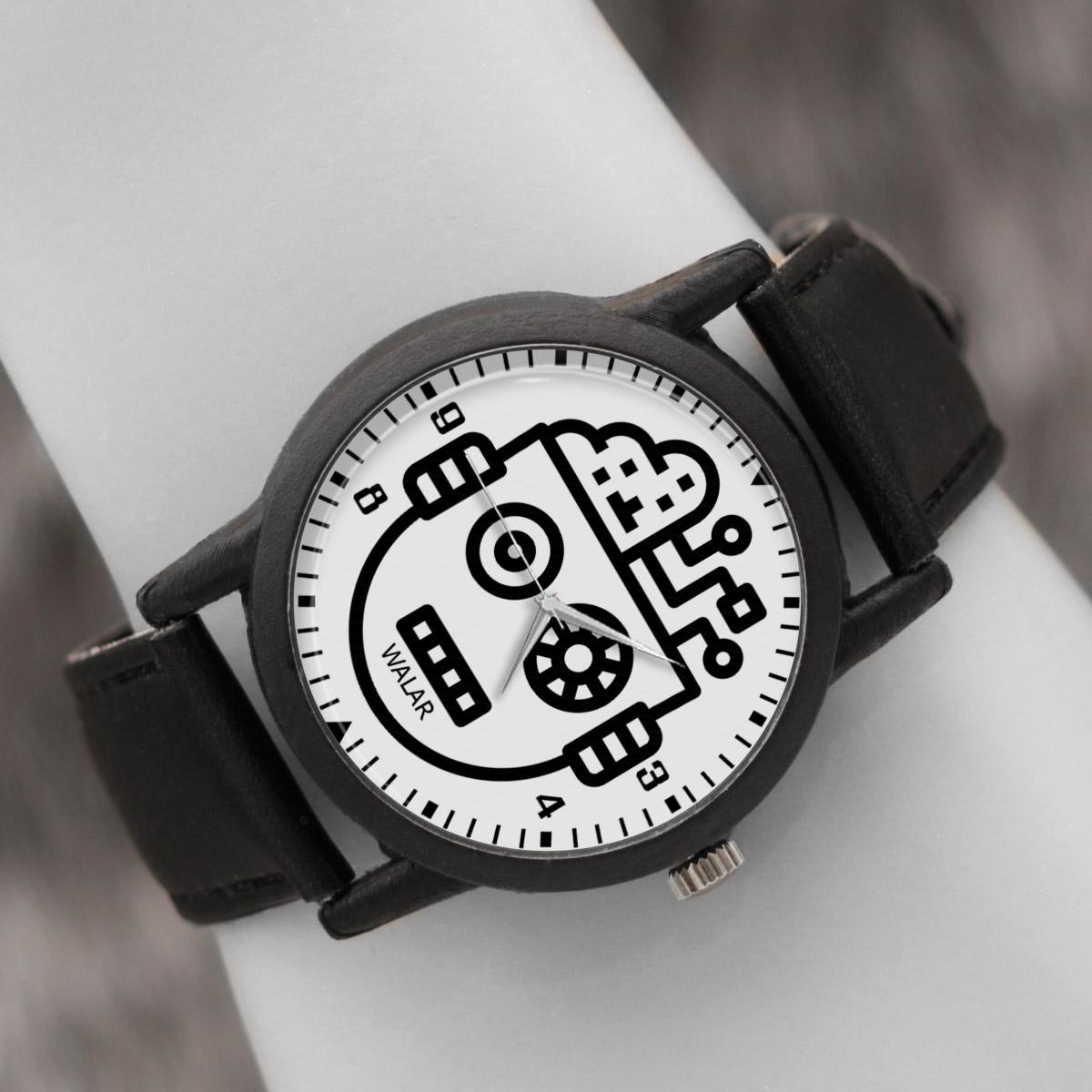 کد تخفیف                                      ساعت مچی عقربه ای والار طرح رباتیک کد LF2564