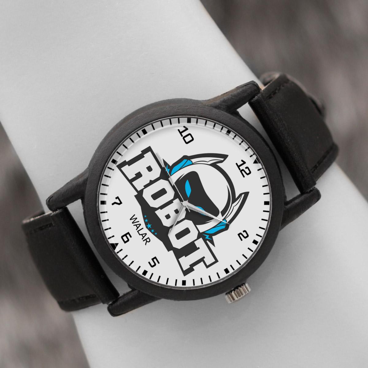 کد تخفیف                                      ساعت مچی عقربه ای والار طرح رباتیک کد LF2566