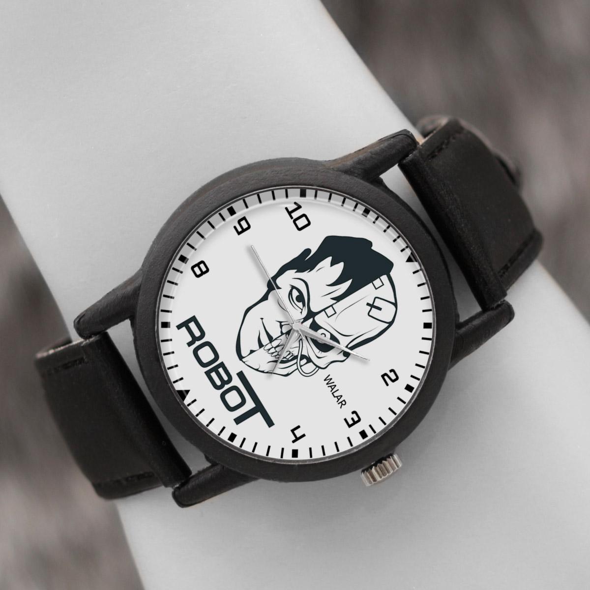 کد تخفیف                                      ساعت مچی عقربه ای والار طرح ربات کد LF2568