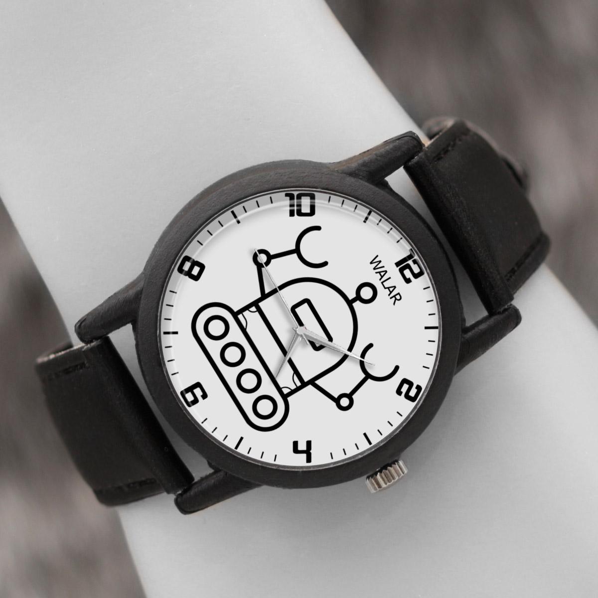 کد تخفیف                                      ساعت مچی عقربه ای والار طرح رباتیک کد LF2571