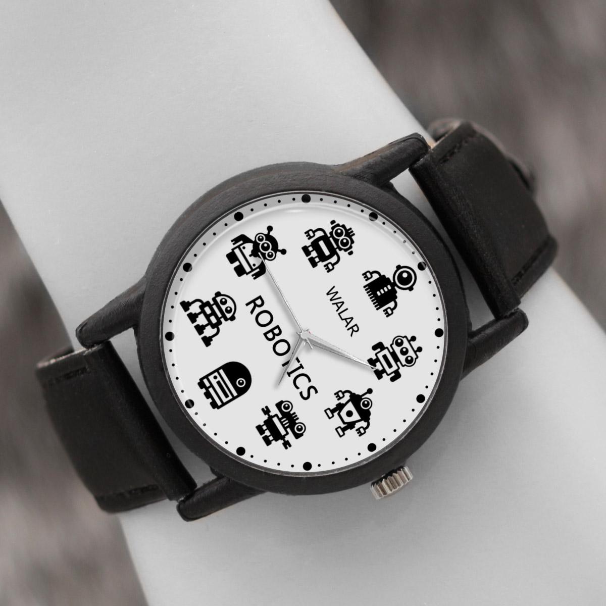 کد تخفیف                                      ساعت مچی عقربه ای والار طرح رباتیک کد LF2572