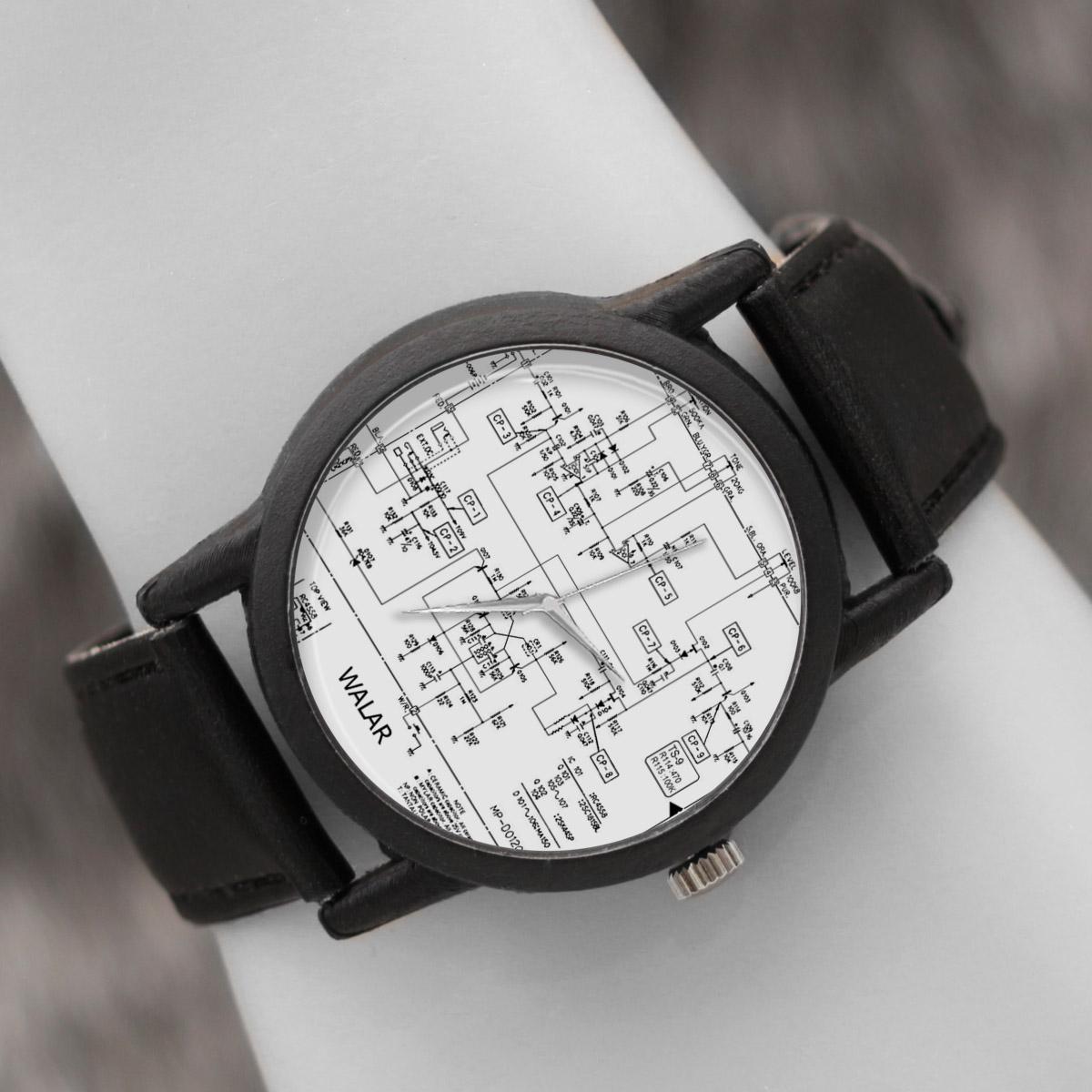 کد تخفیف                                      ساعت مچی عقربه ای والار طرح مدار الکتریکی کد LF2607